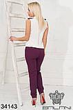 Красивый женский летний брючный костюм 42-44-46-48р.(3расцв), фото 9