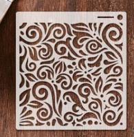 Трафарет 11 штамп теснение на стены шаблон УЗОРЫ для альбомов для скрапбукинга для творчества 160*150 мм