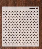 Трафарет 12 штамп теснение на стены шаблон СЕРДЕЧКИ для альбомов для скрапбукинга для творчества 160*150 мм