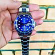 Часы мужские в стиле Rolex. Мужские наручные часы синие. Часы с синим циферблатом Годинник чоловічий, фото 4