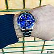 Часы мужские в стиле Rolex. Мужские наручные часы синие. Часы с синим циферблатом Годинник чоловічий, фото 6
