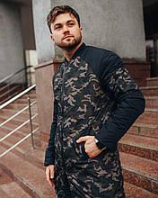 Мужской бомбер удлиненная куртка камуфляж р - ры S - ХL