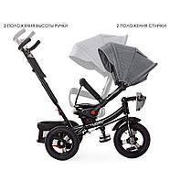 Велосипед трехколесный с ручкой детский TurboTrike М 5448 HA-19T Быстрая доставка, фото 3