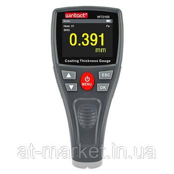Толщиномер лакокрасочных покрытий HD-дисплей Fe, 0-1800мкм  WINTACT WT2100