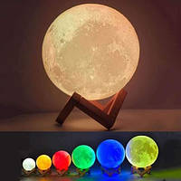 Настольный светильник ночник Луна Magic 3d Разные цвета + пульт