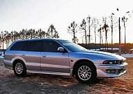 Дефлекторы окон, ветровики \ MITSUBISHI Galant VIII Wagon 1996-2003 Legnum \ Митсубиши Галант 5 \  RACING