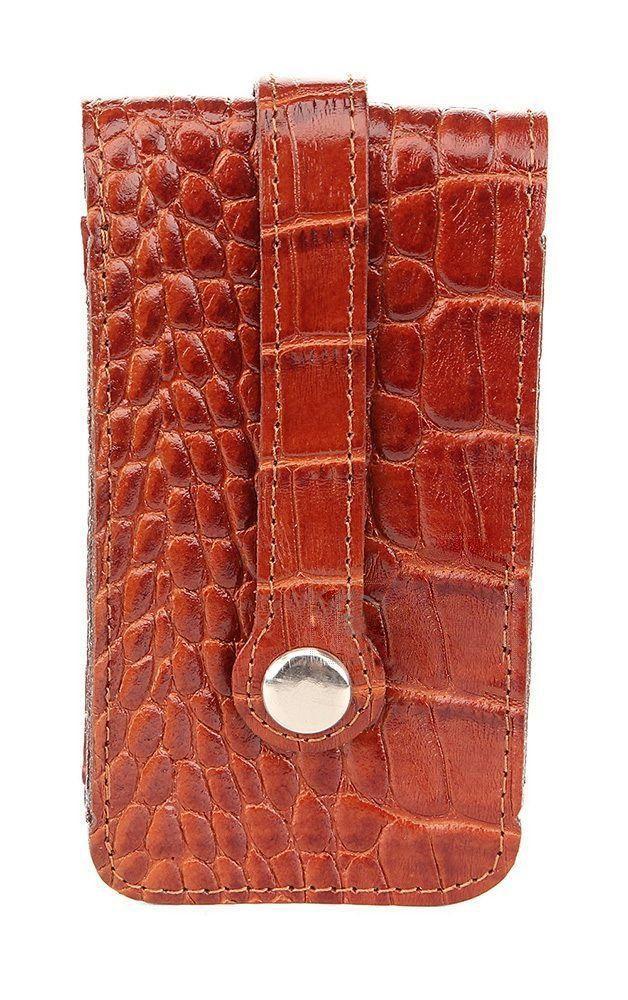 Зручна ключниця з шкіри під крокодила SHVIGEL 16145, Коричневий