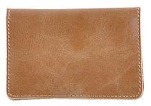 Зручна шкіряна обкладинка для пластикових прав SHVIGEL 16075, Коричневий