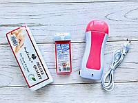 Стартовый набор для депиляции (воскоплав кассетный, кассета, полоски 100 шт), фото 1