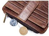Кредитница Vintage 14933 с монетницей Коричневая, фото 4