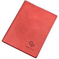 Обложка для автодокументов кожаная GRANDE PELLE 11189 Красная, Красный