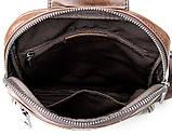 Рюкзак Vintage 14395 кожаный Коричневый, фото 6