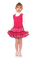 М -918-1 Сарафан детский для девочки трикотажный   рост 98 малиновый, фото 1