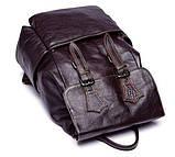 Рюкзак Vintage 14714 кожаный Сливовый, фото 5