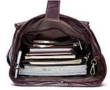 Рюкзак Vintage 14714 кожаный Сливовый, фото 8