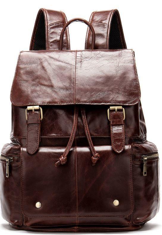 Рюкзак шкіряний Vintage 14800 Коричневий