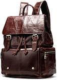 Рюкзак шкіряний Vintage 14800 Коричневий, фото 3