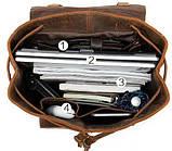 Рюкзак шкіряний Vintage 14800 Коричневий, фото 6