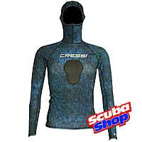 Рашгард со шлемом Cressi Hunter Rash Guard BLUE для подводной охоты