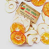 Фруктові чіпси з яблук-25, груш-15 і мандаринів-10, суміш 50 грам, фото 1