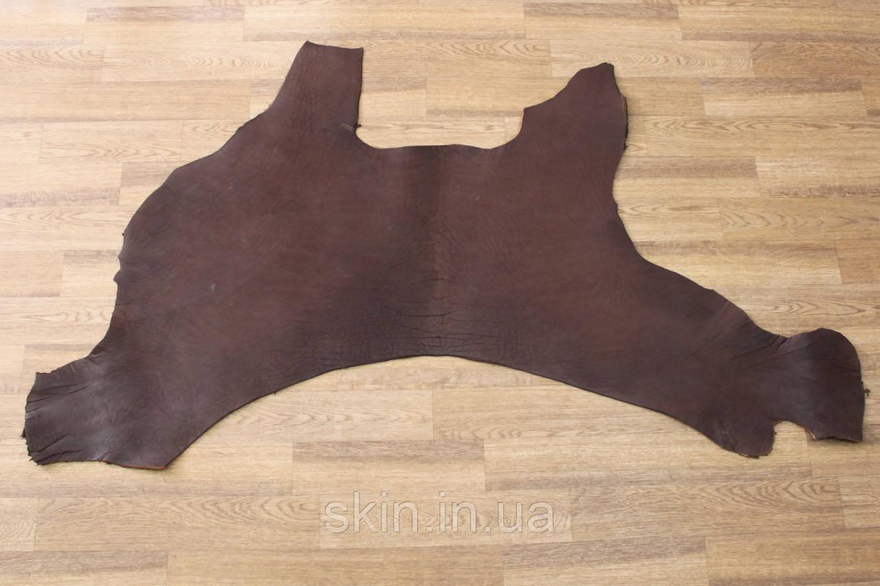 Кожа натуральная ременная коричневого цвета, толщина 3.2 мм, арт. СК 1677-5 вороток