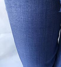 Летние брюки из льна-коттона №14 БАТАЛ синий, фото 3