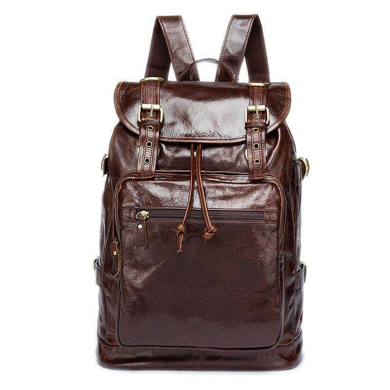 Рюкзак шкіряний Vintage 14843 Коричневий