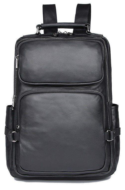 Рюкзак Vintage 14955 кожаный Черный