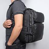 Рюкзак Vintage 14955 кожаный Черный, фото 10