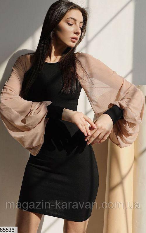 Нарядное женское платье трикотаж