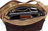 Сумка мужская Vintage 14082 из винтажной кожи Коричневая, фото 7