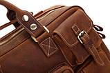 Сумка мужская Vintage 14065 винтажная кожа Коричневая, фото 7