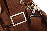 Сумка мужская Vintage 14065 винтажная кожа Коричневая, фото 8