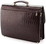 Портфель деловой SHVIGEL 00363 из натуральной кожи Коричневый, фото 3