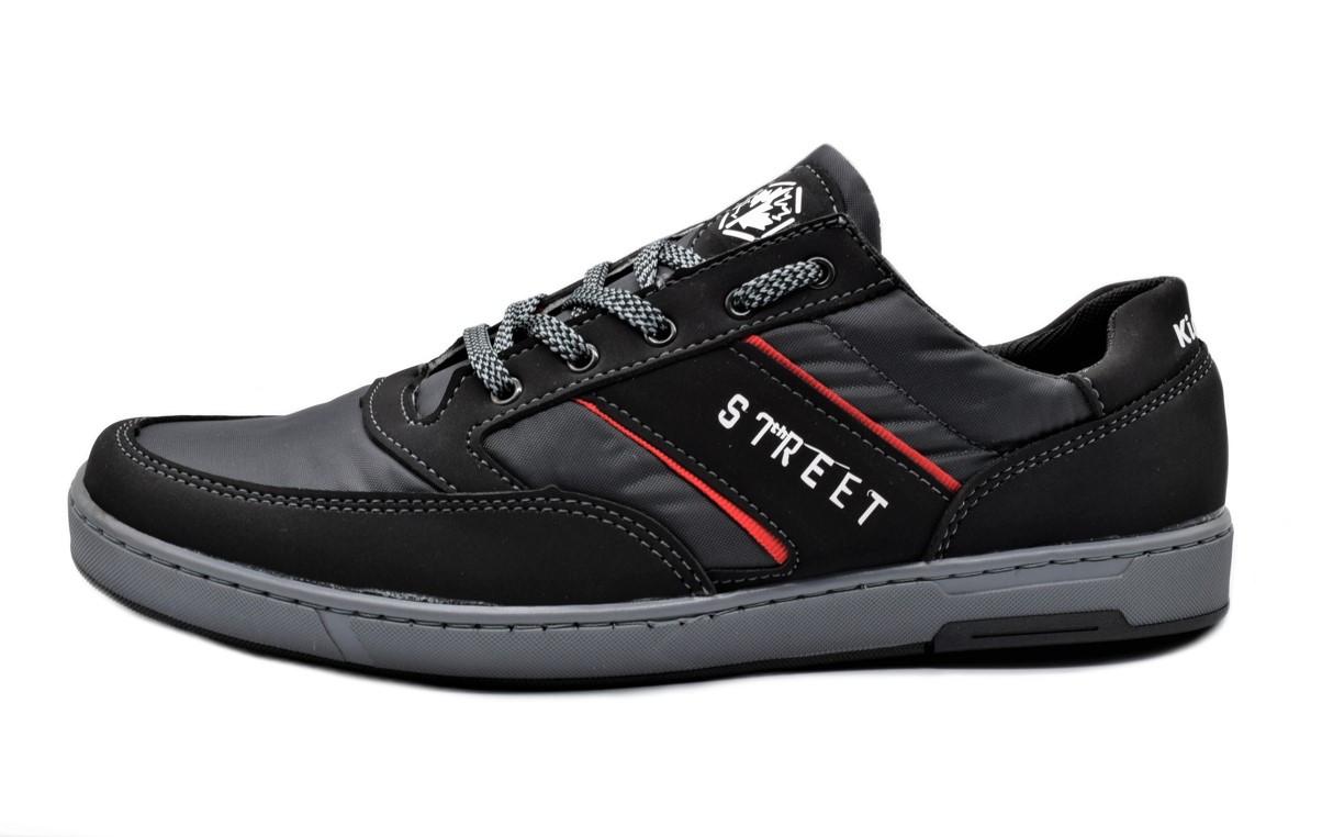 Кроссовки кеды мужские черные фабричные