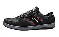 Кроссовки кеди чоловічі чорні кросівки