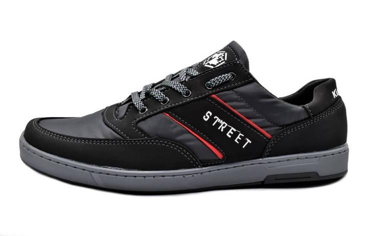 Кроссовки кеди чоловічі чорні кросівки 40, 43 розмір, фото 2
