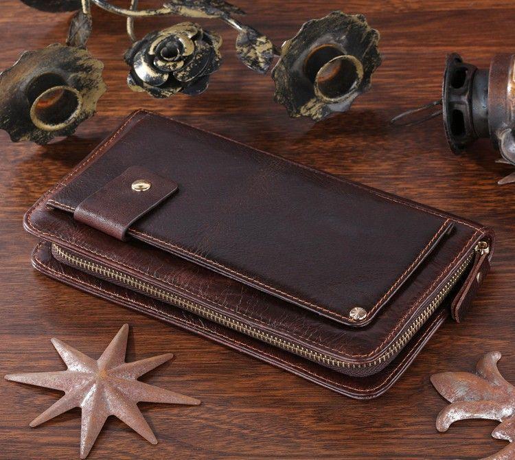 Шкіряна чоловіча барсетка Vintage 14193 коричнева