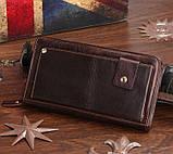Шкіряна чоловіча барсетка Vintage 14193 коричнева, фото 4