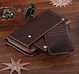 Кожаная мужская барсетка Vintage 14193 Коричневая, фото 5