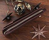 Шкіряна чоловіча барсетка Vintage 14193 коричнева, фото 6