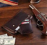 Шкіряна чоловіча барсетка Vintage 14193 коричнева, фото 7