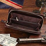 Шкіряна чоловіча барсетка Vintage 14193 коричнева, фото 8