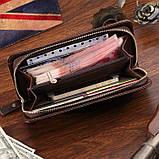 Кожаная мужская барсетка Vintage 14193 Коричневая, фото 9