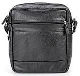 Елітна шкіряна чоловіча сумка SHVIGEL 00791 Чорна, фото 2