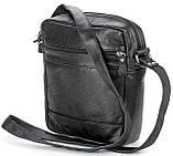 Елітна шкіряна чоловіча сумка SHVIGEL 00791 Чорна, фото 3