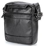 Елітна шкіряна чоловіча сумка SHVIGEL 00791 Чорна, фото 4