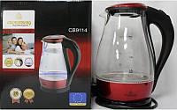 Электрочайник Crownberg CB 9114 1,7л, стеклянный с подсветкой
