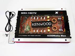 Автомобільний підсилювач звуку Kenwood MRV-1907U + USB 4000Вт 4х канальний Прозорий корпус