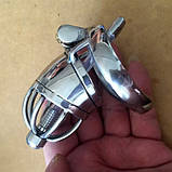 Stainless Steel Male Chastity Device / Stainless Steel Chastity Cage, фото 3
